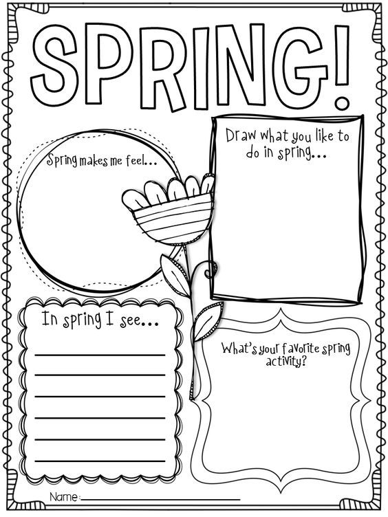 spring writing activity...cute!: