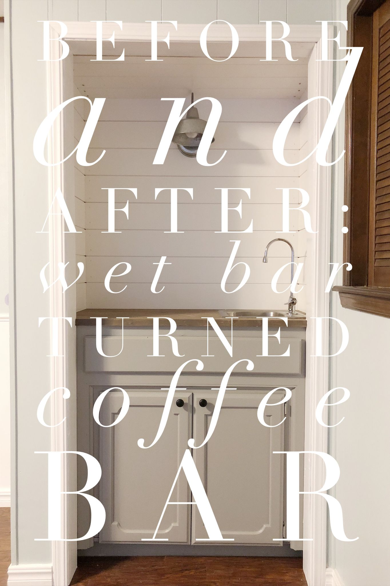 Wet Bar Turned Coffee Makeover Homedecor Diyprojects