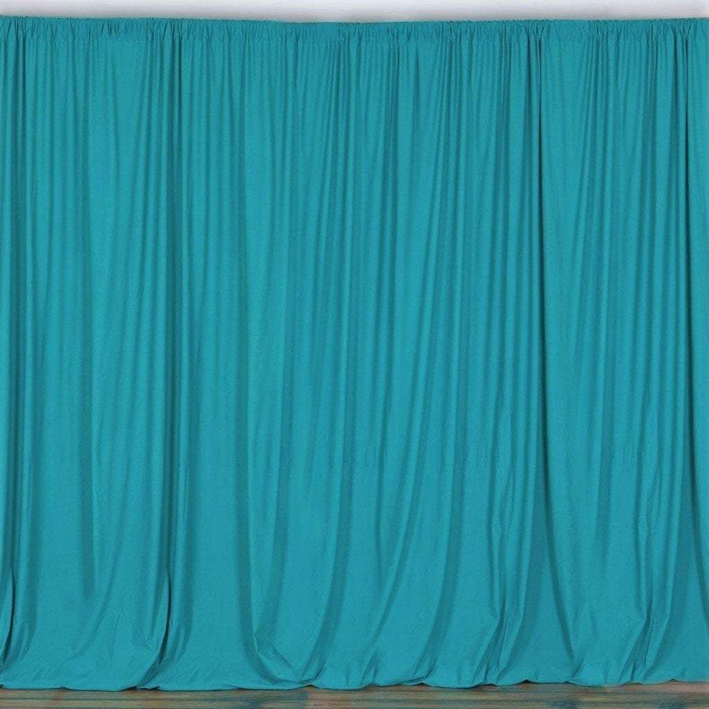 10 X 10 Ft Turquoise Curtain Polyester Backdrop Drapes Panels With Rod Pocket Curtains Turquoise Curtains Panel Curtains