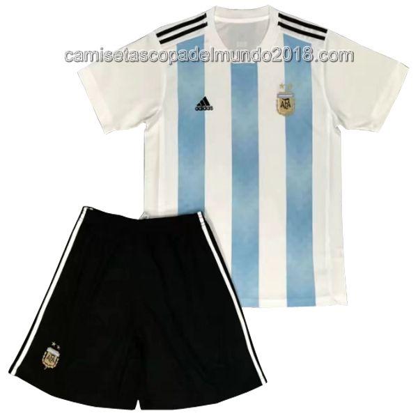 Primera Camiseta Argentina Niños Mundial 2018 ... eda317049d225
