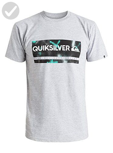 Quiksilver Men's Check My Spray T-Shirt, Athletic Heather, Small - Mens  world