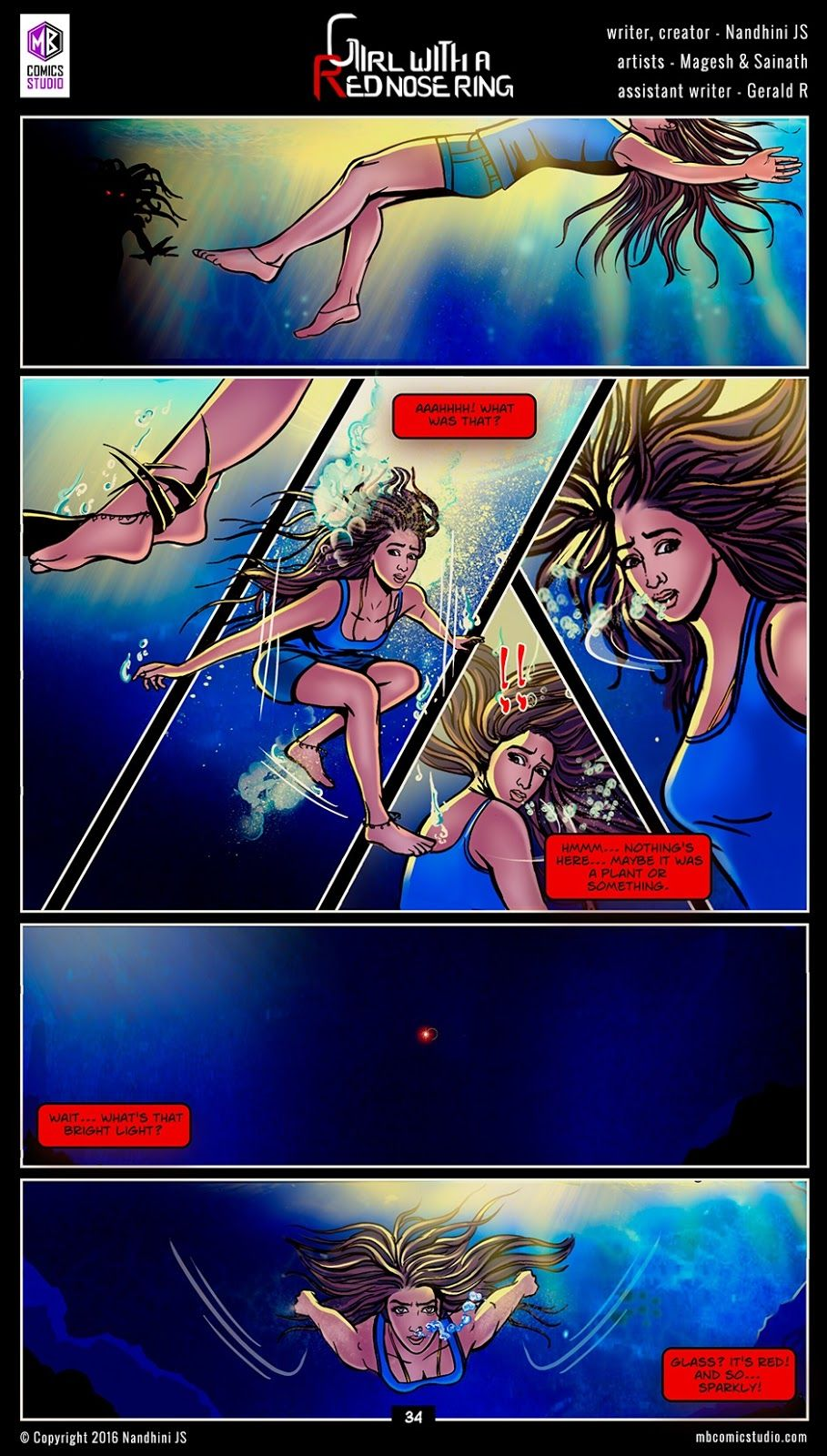 Page 34 - Nandhini's 'Girl with a Red Nose Ring' Comics. (read free comics online, romantic books by indian authors, romantic books for teenegers, horror books in english, best place to download comic books online, comic books for children, comics for children, comics for kids, comic books for kids, best site to download comics, comic books download pdf, graphic novels for adults, graphic novels for children, graphic novels and comics, indian comic books, comic books india, webcomics