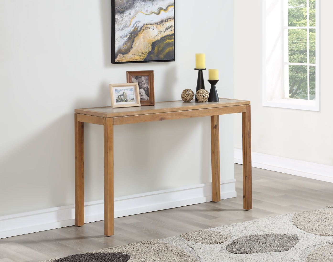 Mainstays Glenmore Faux Concrete Top With Grey Wash Wood Finish Console Table Walmart Com In 2020 Furniture Living Room Furniture Wood Finish