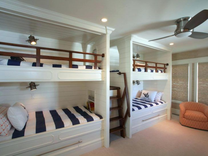 Interior Four Bunk Beds In One Room Ideas For Boys And Girls Best