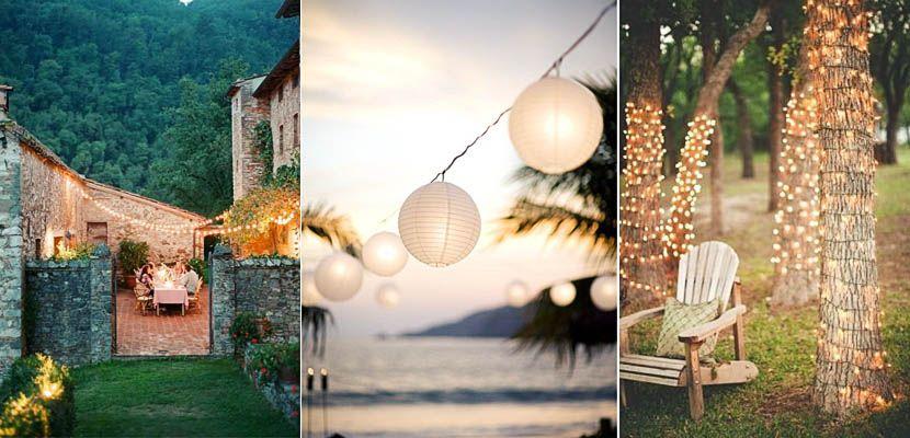 Diferentes propuestas para iluminar una fiesta en el jardín