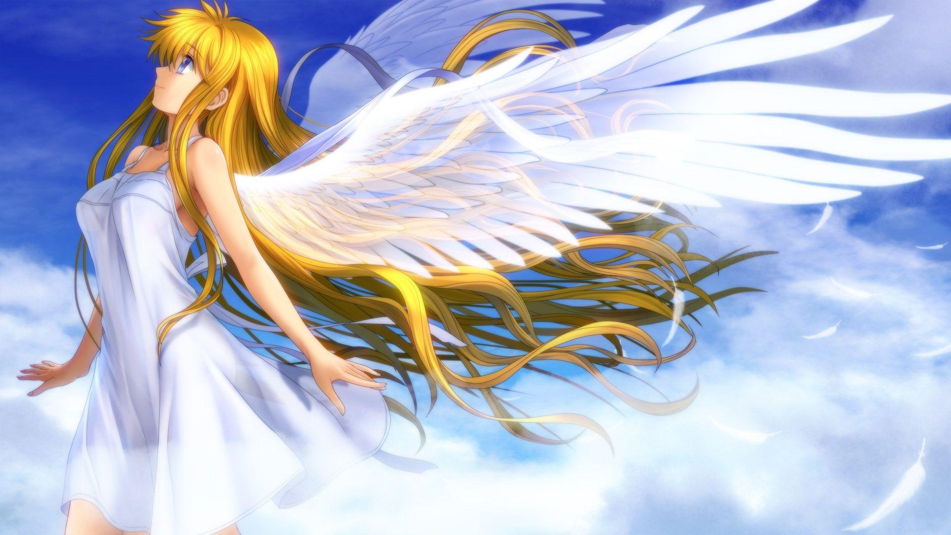 anime girls belts feathers - photo #15