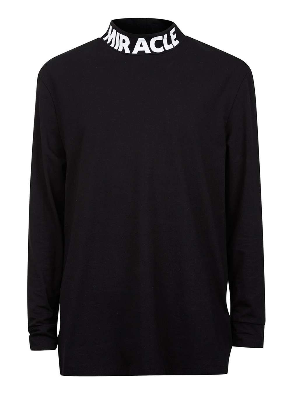 b9bddccea6 AAA Black Miracle Print Funnel Neck T-Shirt - Topman AAA - Clothing - TOPMAN