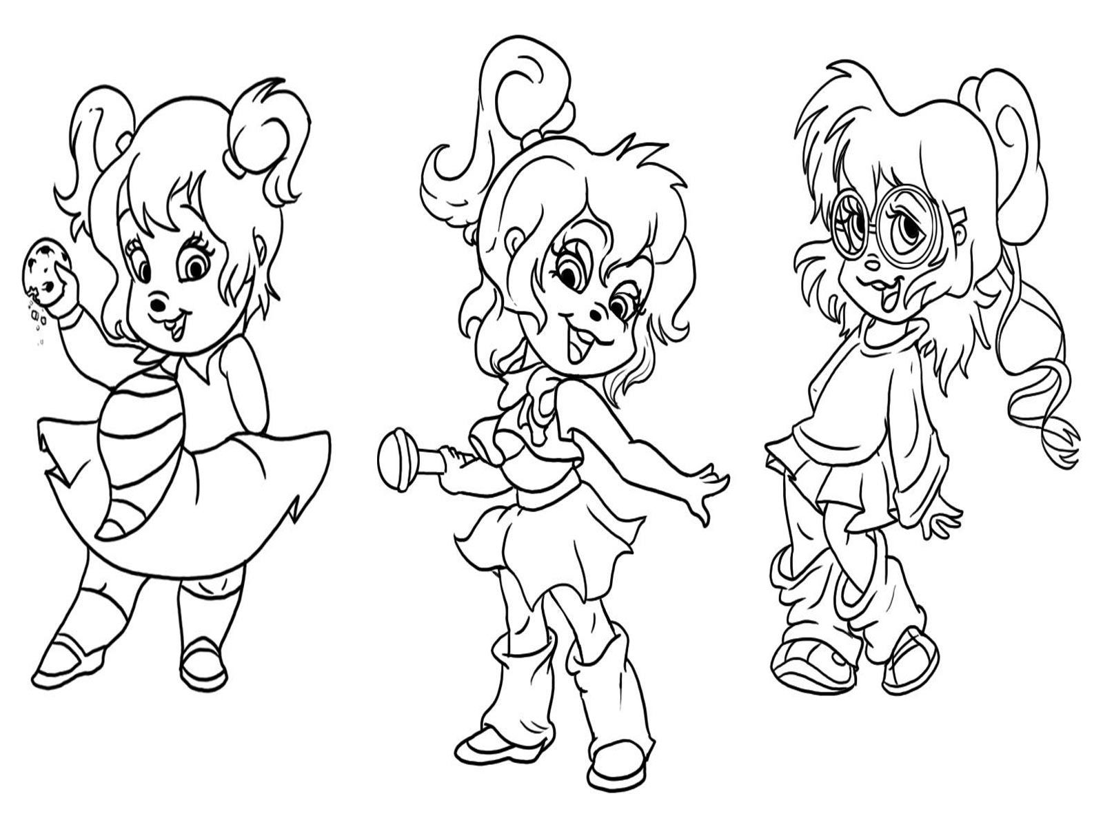 Alvin And The Chipmunks Dancing Disney coloring pages
