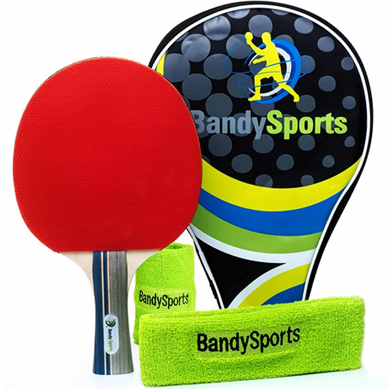 Professional Ping Pong Paddle Racket Set Table Tennis Rubber Ping Pong Paddles Table Tennis Bats