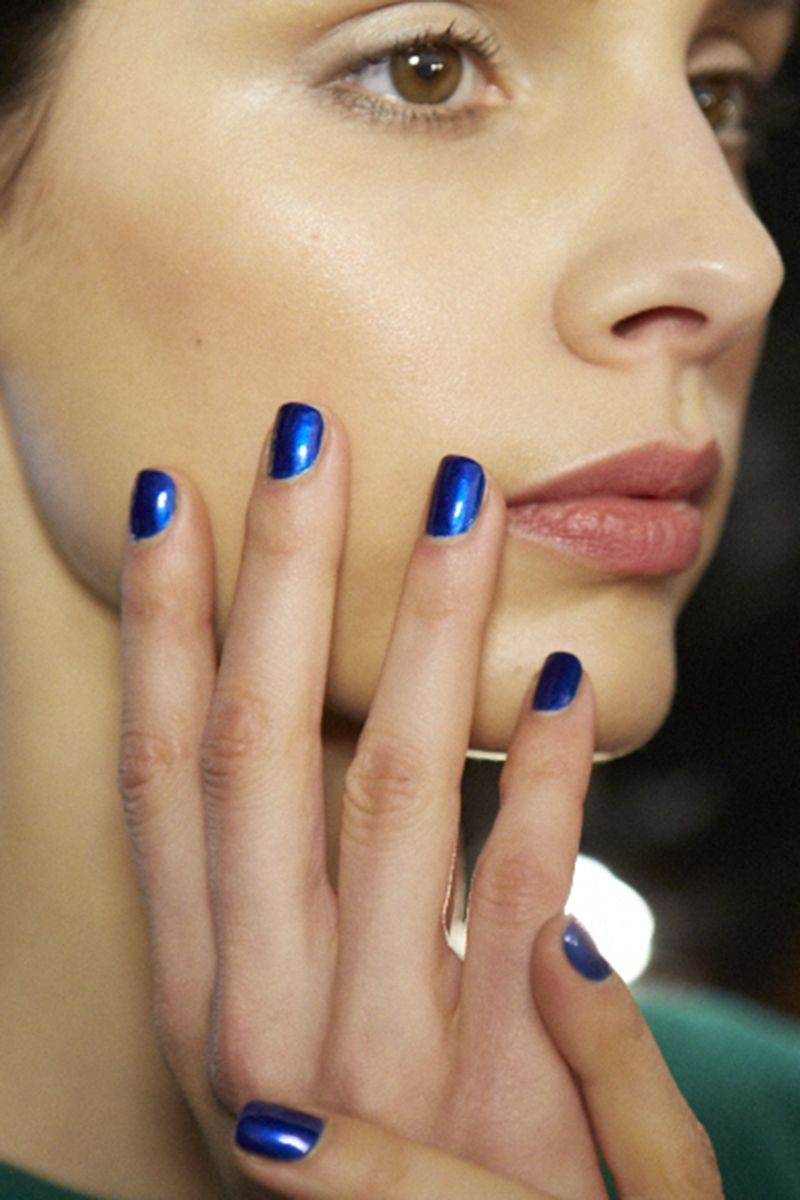 The 17 Best Nail Looks from Fall 2015 | Blue nails, Nails 2015 and ...