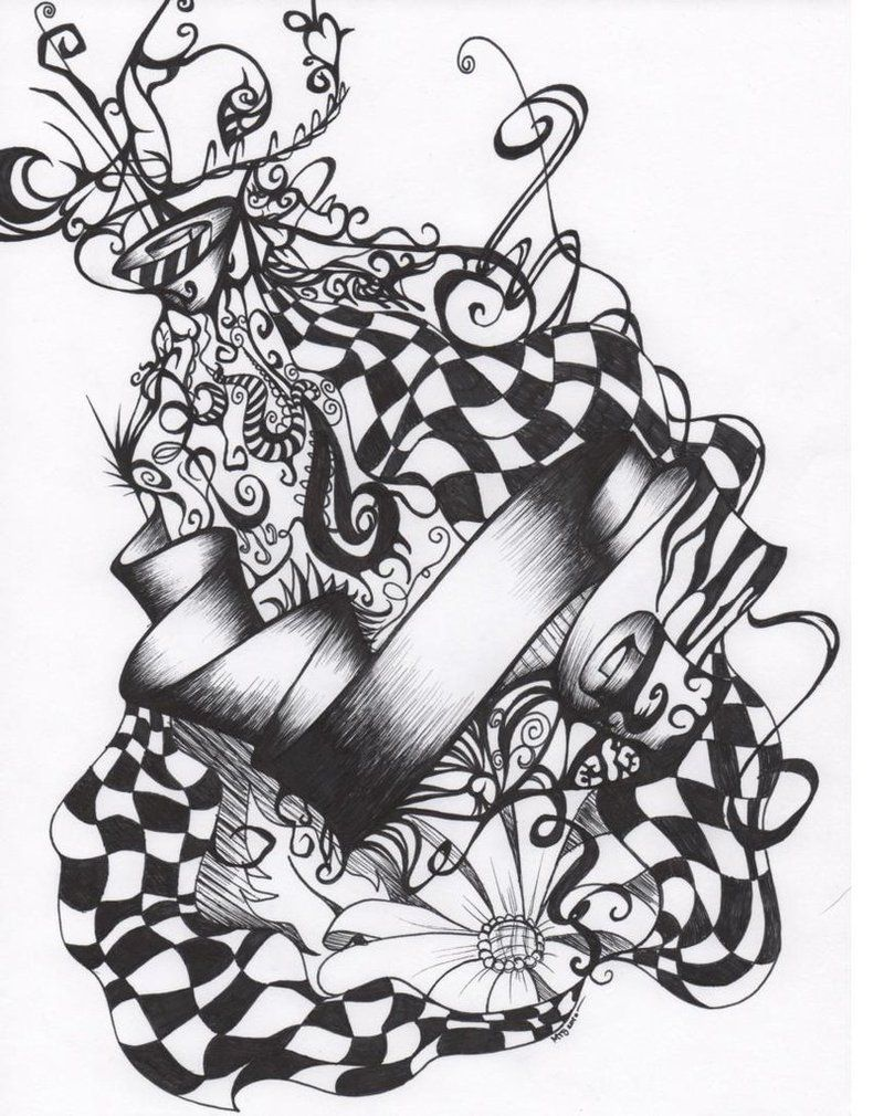 Wonderland in alice watch drawing photo pictures