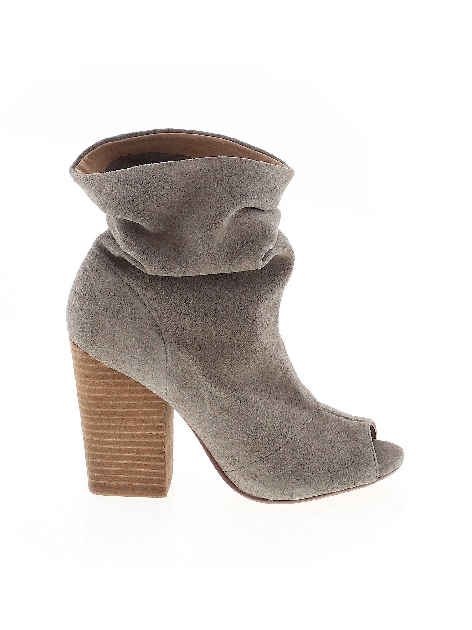 Chinese Laundry Ankle Boot Gray Solid Women S Shoes Size 6