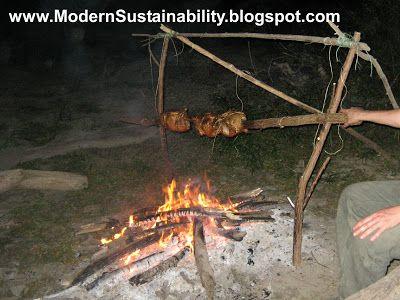 Photo of spit-cooking design no. 2 – primitive cooking methods
