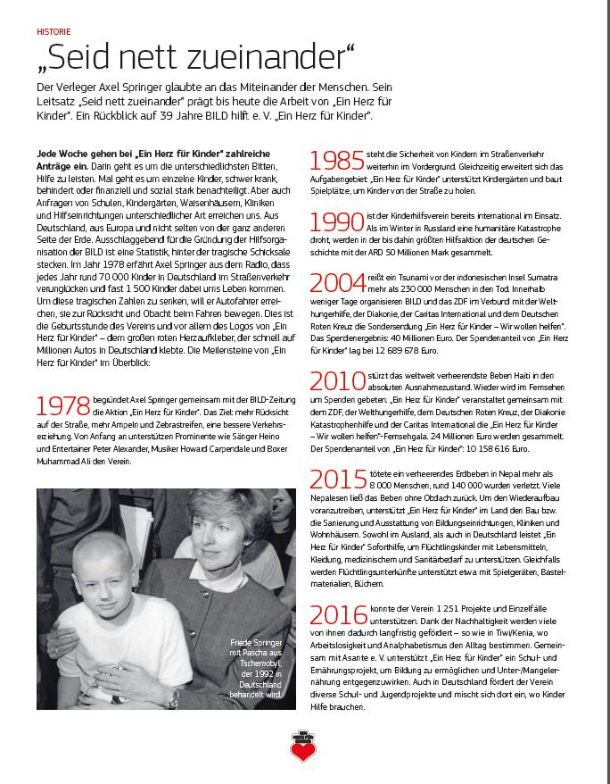 1978 Begann Die Erfolgsgeschichte Von Ein Herz Für Kinder