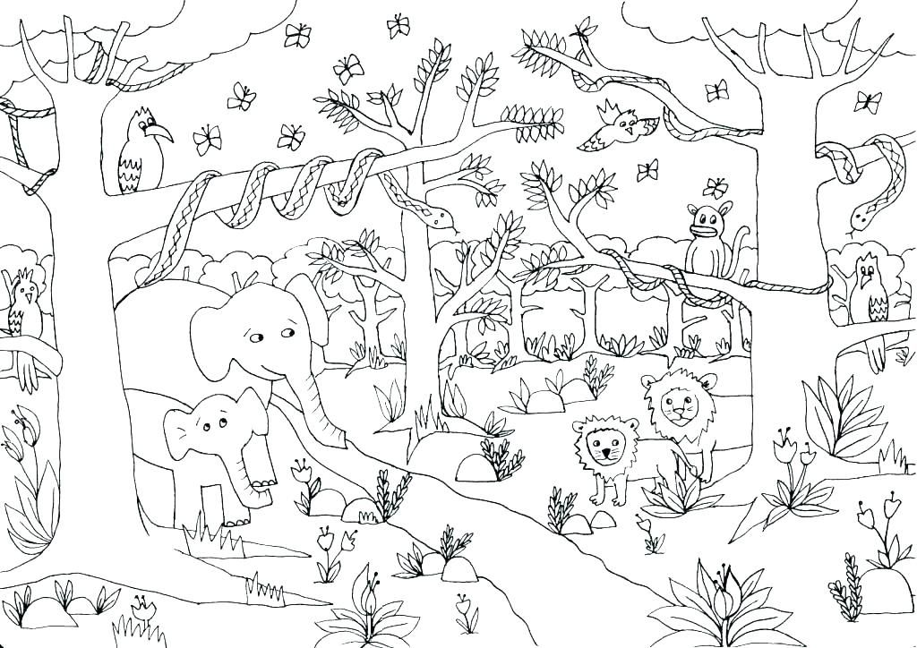 Jungle Coloring Pages Animal coloring pages, Jungle