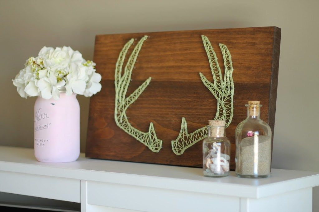 DIY ANTLER STRING ART