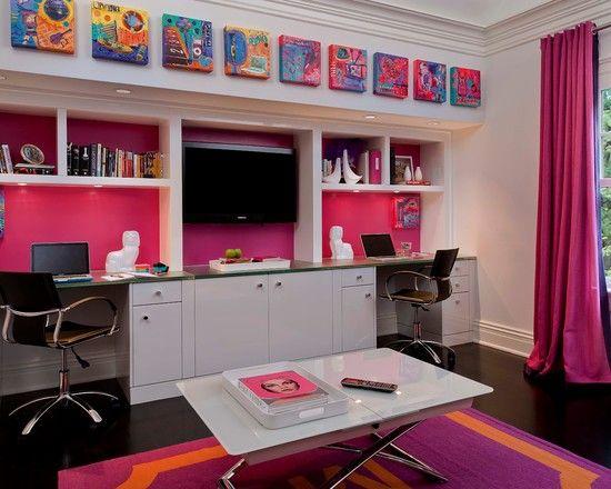 Best 25 teen girl desk ideas on pinterest bedroom - Habitaciones juveniles modernas ...