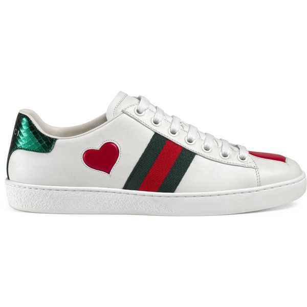 11817bbbaeb59 Gucci Ace Embroidered Sneaker ( 650) ❤ liked on Polyvore featuring shoes