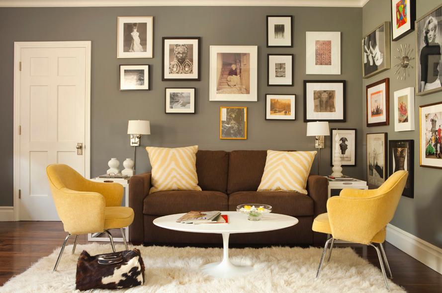 Decorar con amarillo: Juguemos con el color | Salones / Sitting ...