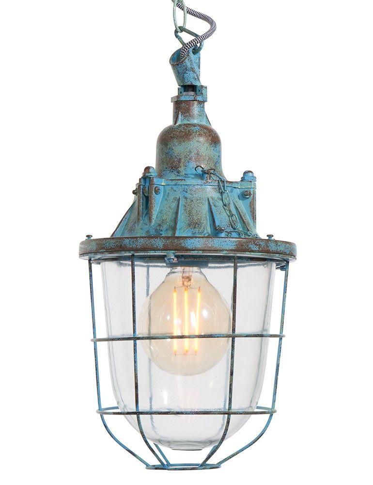 stoere scheepslamp light living quarry blauw à 21 5 cm kleinste