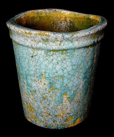 Take a look at this Light Blue Dappled Planter by Galt International on #zulily today!