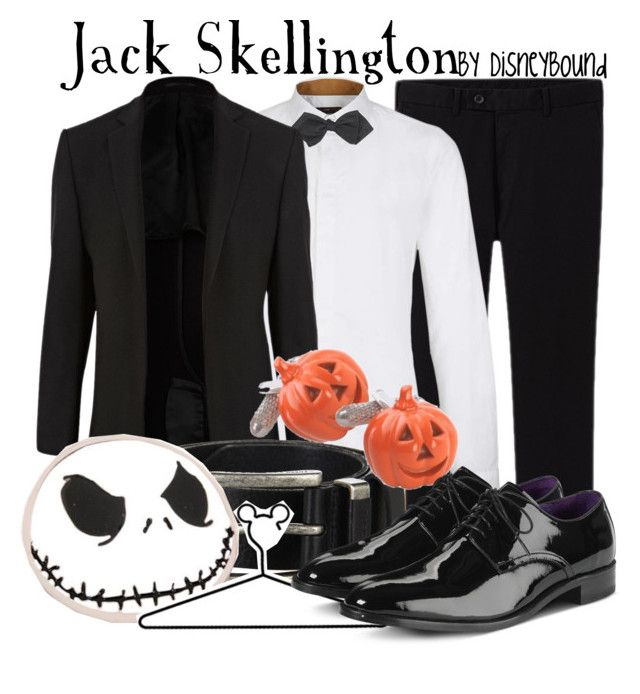 """""""Jack Skellington"""" by leslieakay ❤ liked on Polyvore featuring Uniqlo, Peter Werth, Talbots, River Island, FOSSIL, Disney, Cole Haan, women's clothing, women and female"""