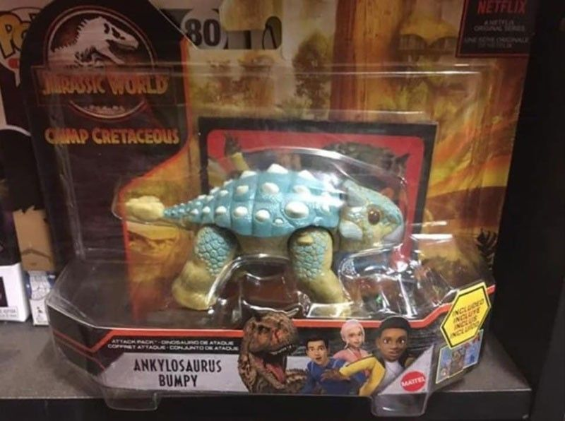 Jurassic World Attack Pack Ankylosaurus Bumpy Camp Cretaceous Mattel Dinosaur