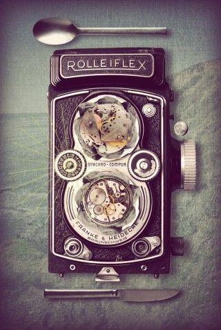 Rolleiflex Retro Photography Vintage Advertisements Vintage Objects