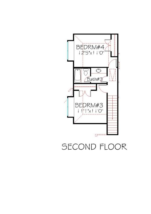 Second Floor Plan House Plan 2463 144 Traditional Stone Front