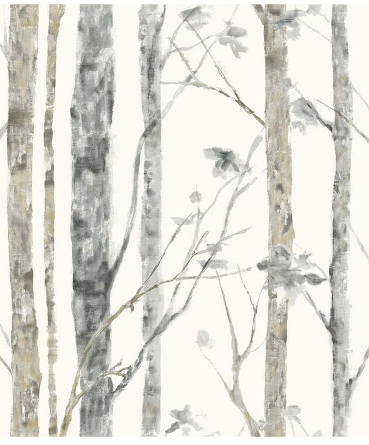 York Wallcoverings Birch Trees Peel And Stick Wallpaper Reviews All Wall Decor Home Decor Macy S Birch Tree Wallpaper Tree Wallpaper Peel And Stick Wallpaper