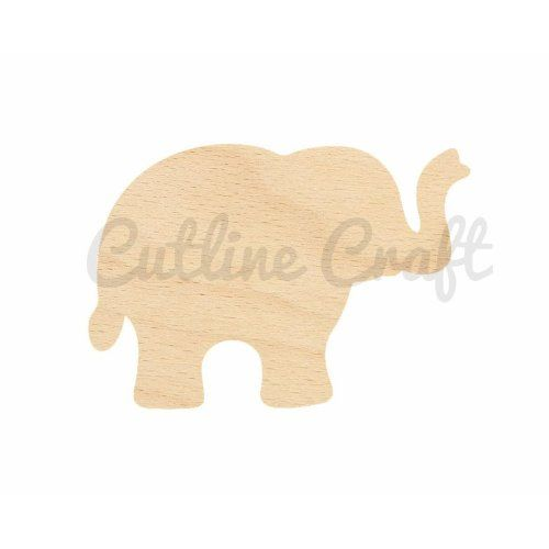 Wood Elephant Cutout This Would Be Great For Crafts Wooden