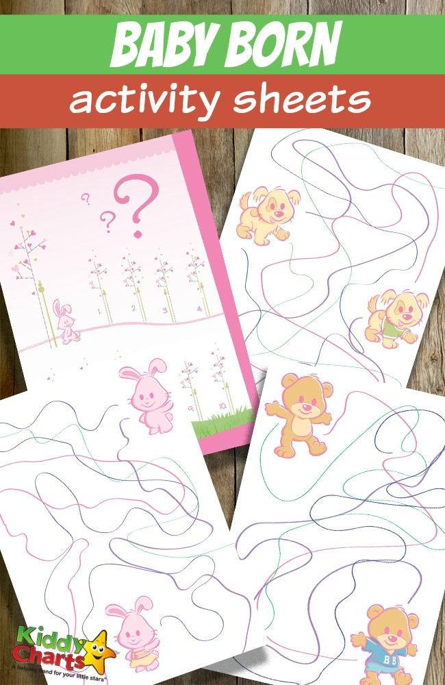 Baby Born activity sheets | Baby born, Activities and Babies