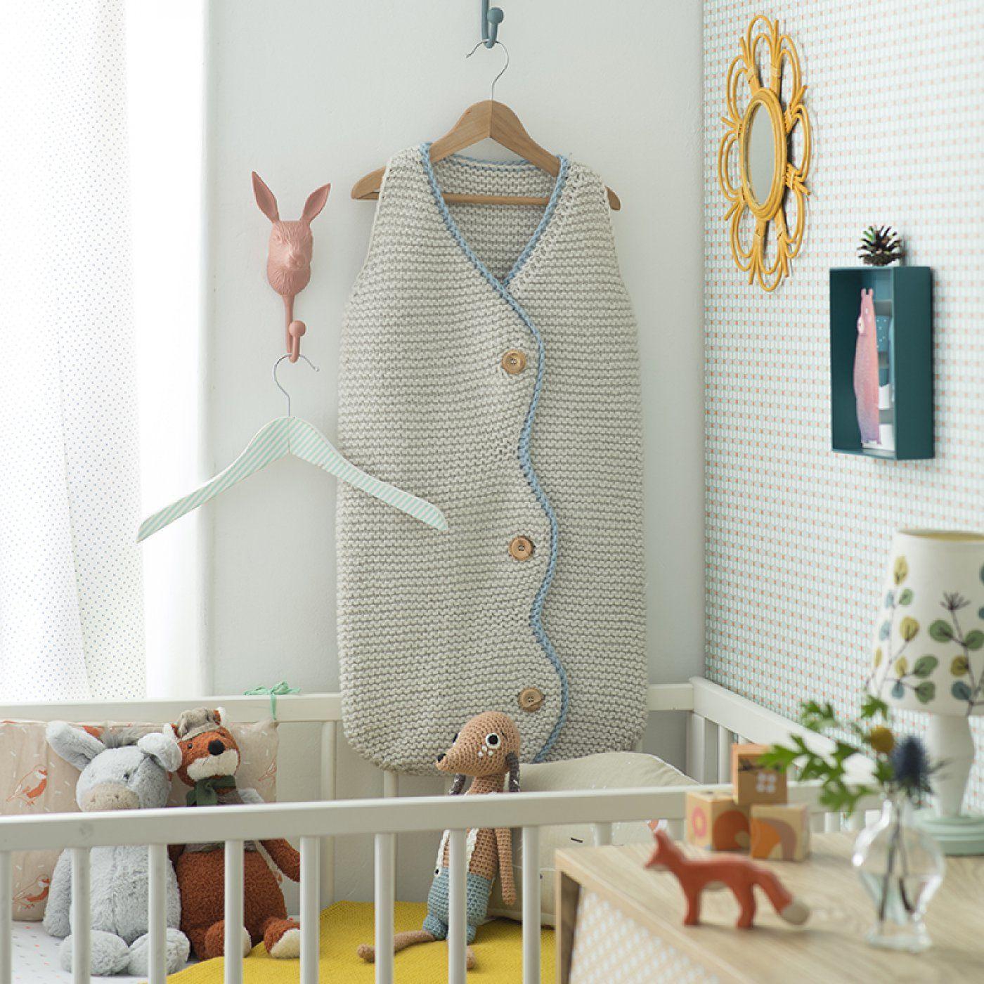 b1dc520b988 Tricot bébé   modèle gratuit de gigoteuse
