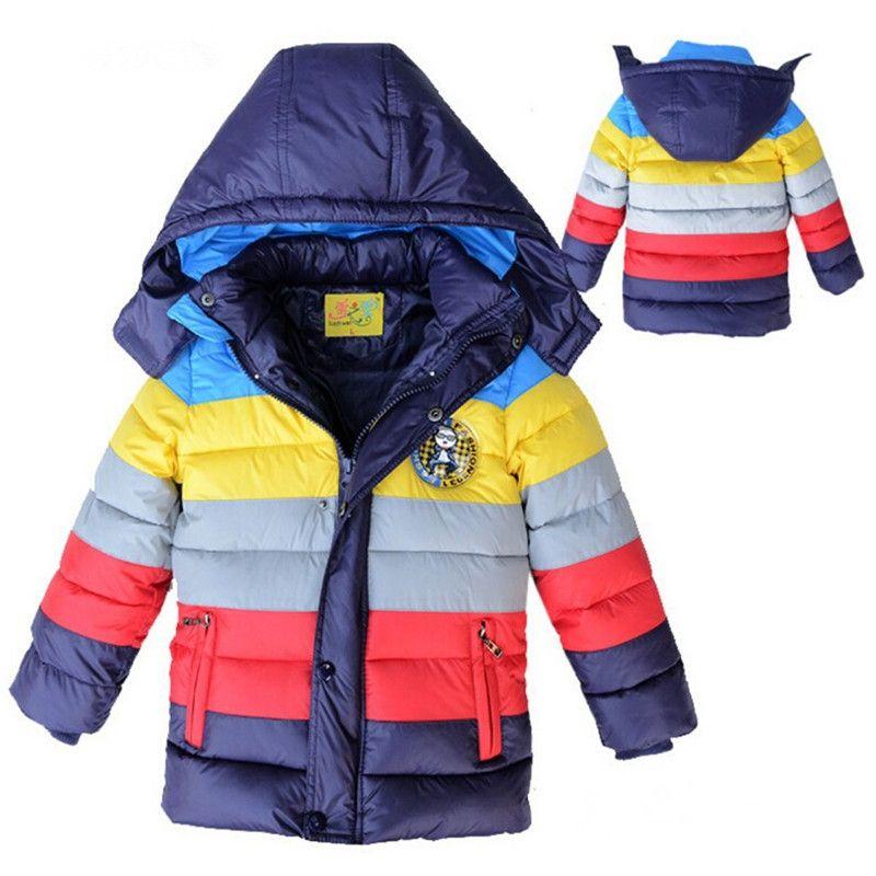 308c3221d New year boy winter jacket minions Boys coats children clothing Warm ...