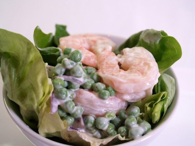 Image result for shrimp and peas salad