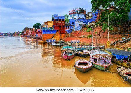 View of Varanasi on river Ganges