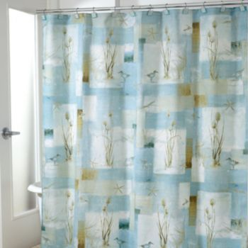 Avanti Blue Waters Fabric Shower Curtain With Images Beach