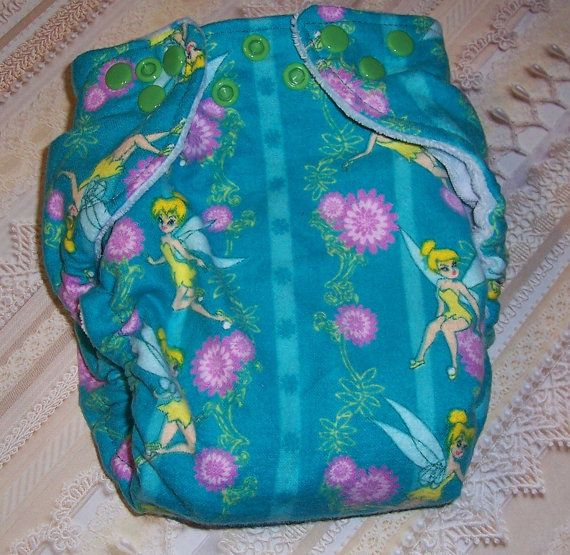 Custom Cloth DiaperTinkerbell  by Los Chiquitos by loschiquitos, $9.25