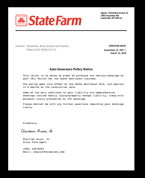 State Farm Insurance Letter Job Employment Claim Income Fund Premium Policy Auto Check Notary Aut State Farm Insurance State Farm Insurance Quotes