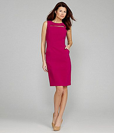Anne Klein Cutout Sheath Dress #Dillards