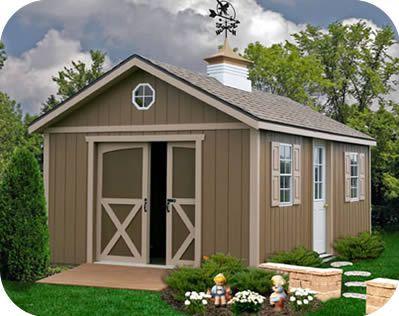 Best Barns North Dakota 12x16 Wood Storage Shed Kit