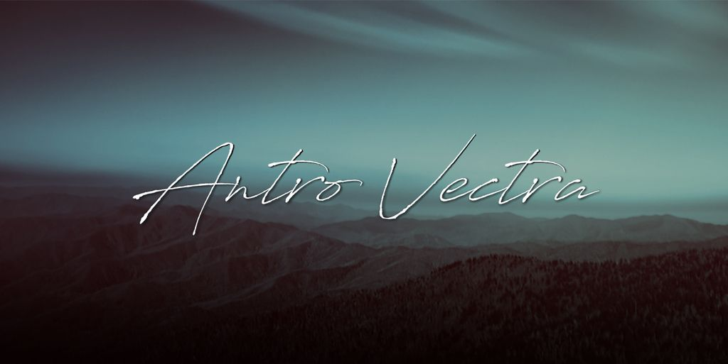 New free font 'Antro Vectra' by Youssef Habchi · Free for personal use · #freefont #font