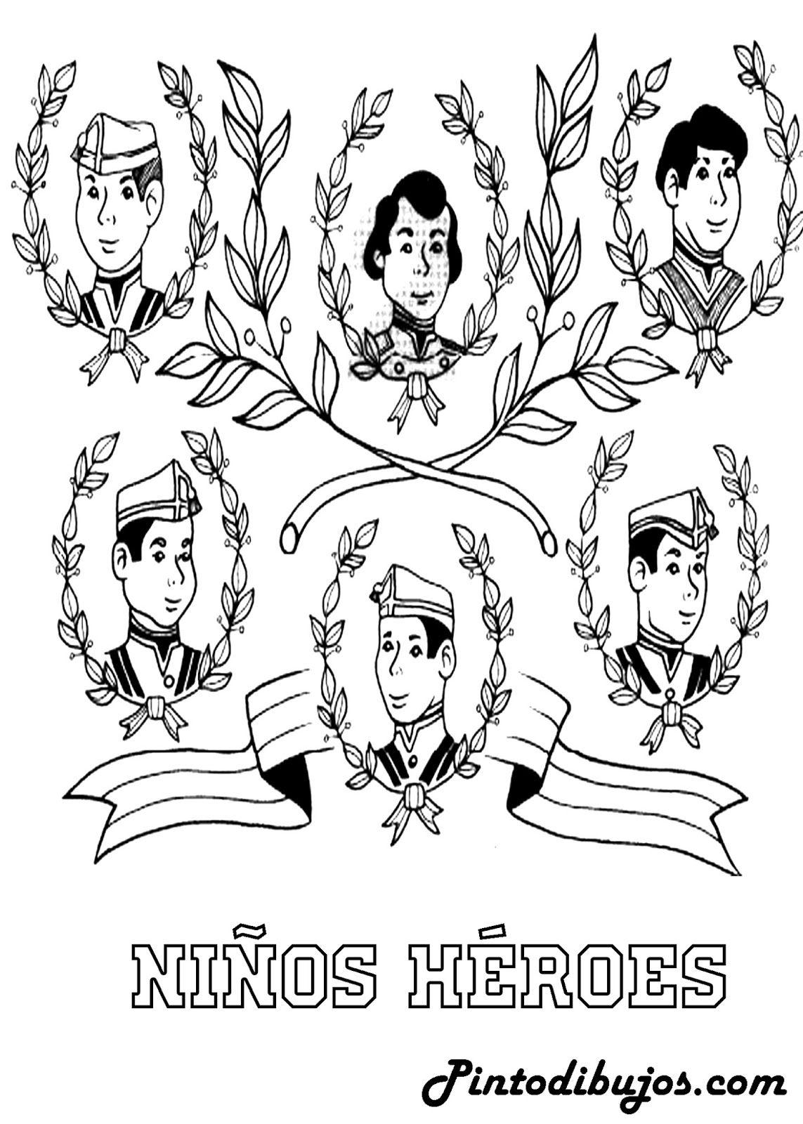 Dibujo De Los Ninos Heroes Para Colorear 13 De Septiembre Para Colorear Ninos Heroes Para Colorear Los Ninos Heroes Dibujos Para Ninos