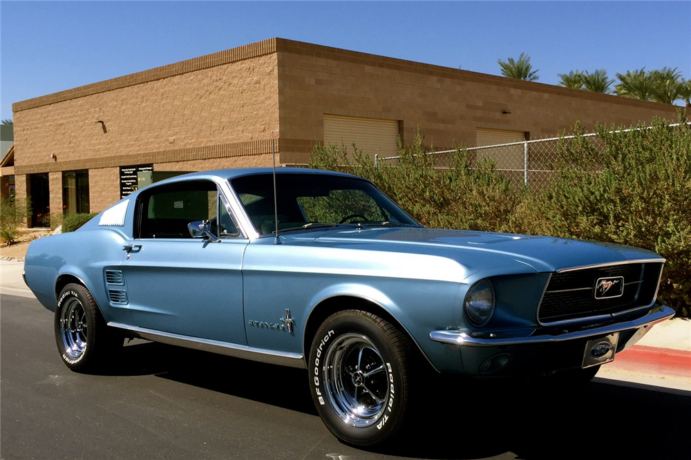 Aella S 1967 Brittany Blue Mustang Gt Fastback Her Baby And Hers