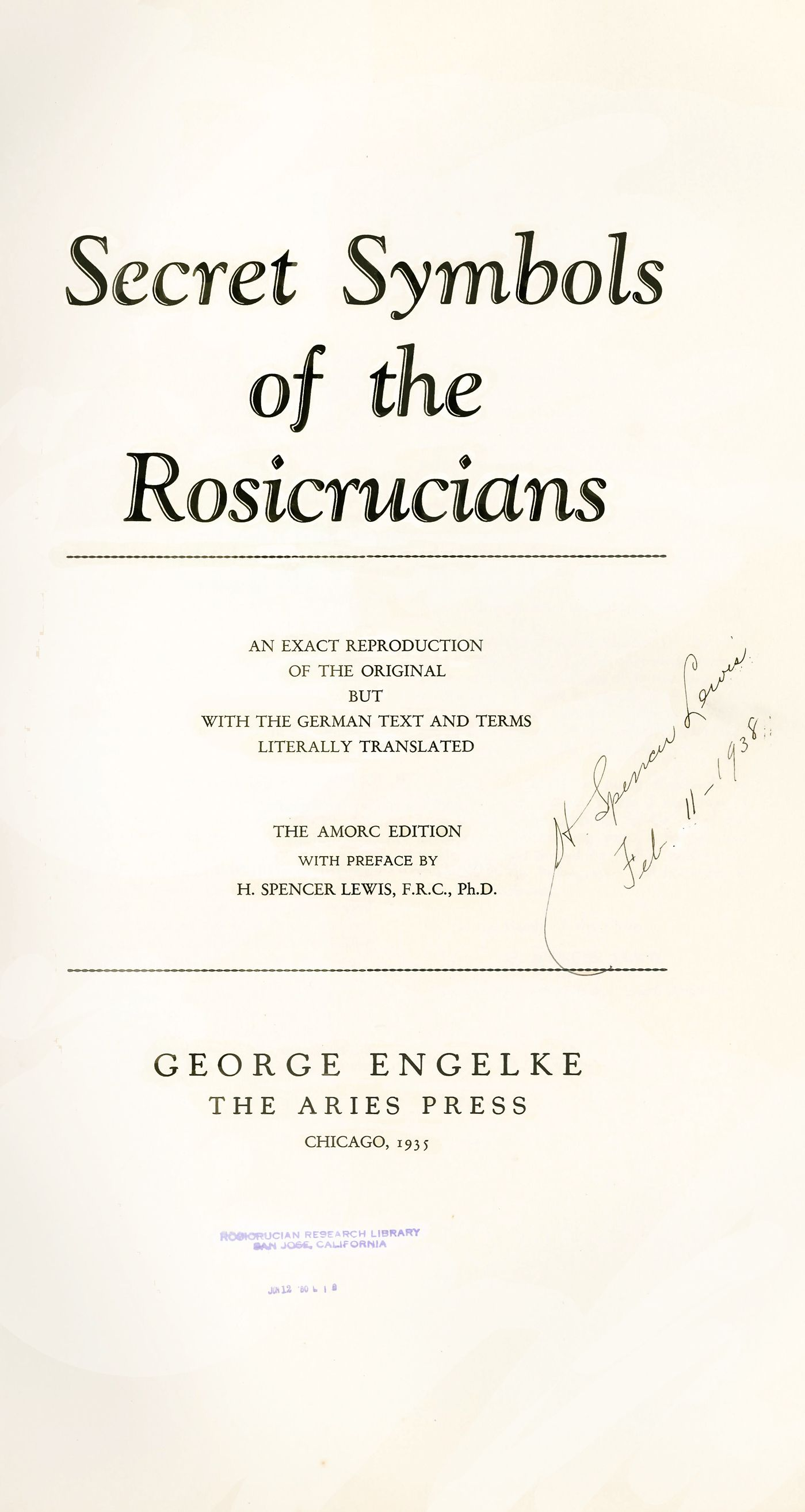 Welcome to the Rosicrucian Collection