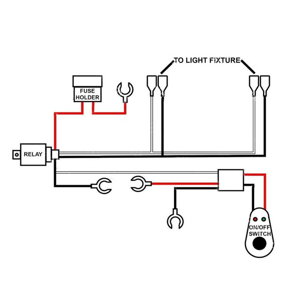 Details About Led Work Light Wiring Harness 40a Bar Remote