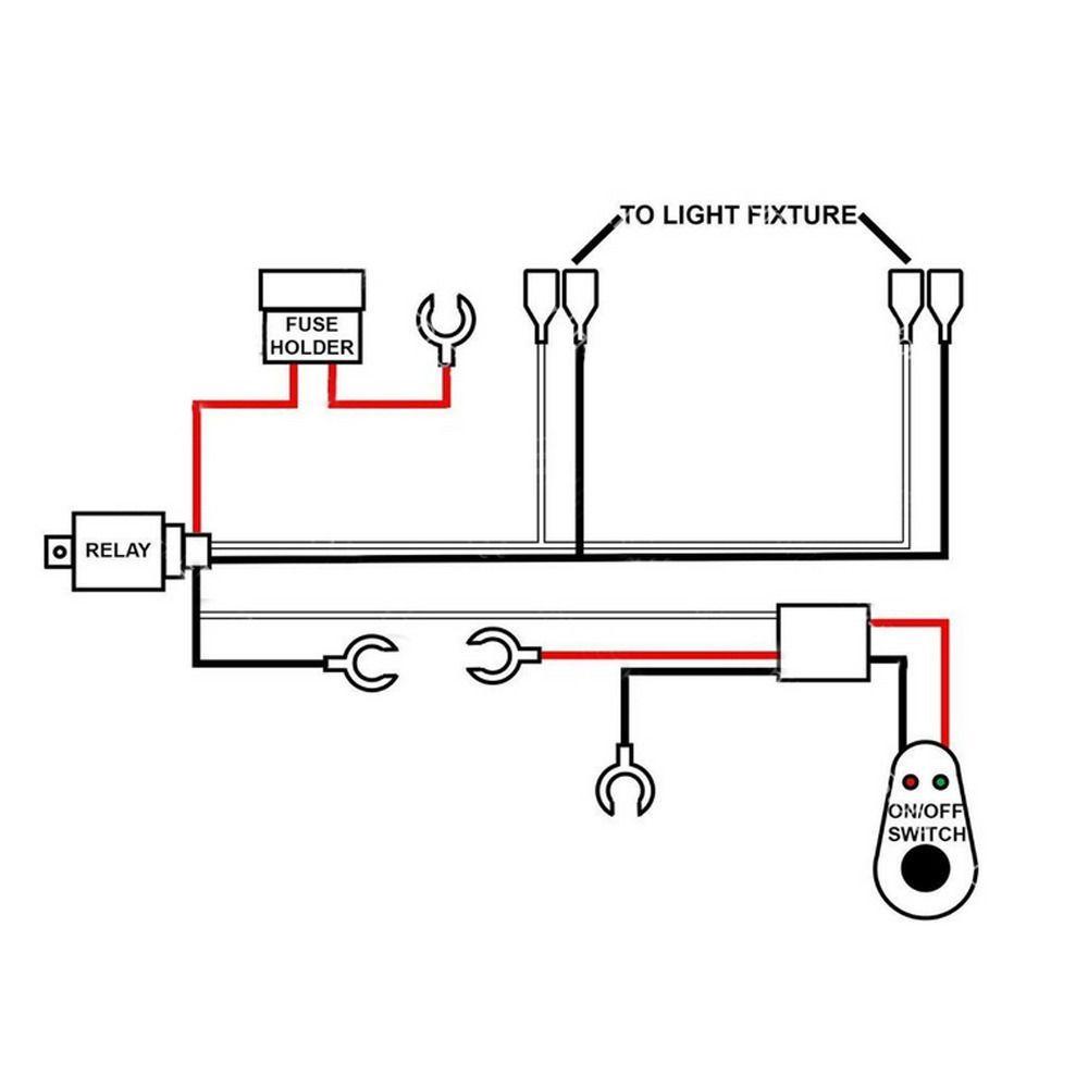 led light bar relay wiring diagram 2002 dodge ram 1500 diy fuse box library 40a 300w harness kit rocker switch road spot ebay