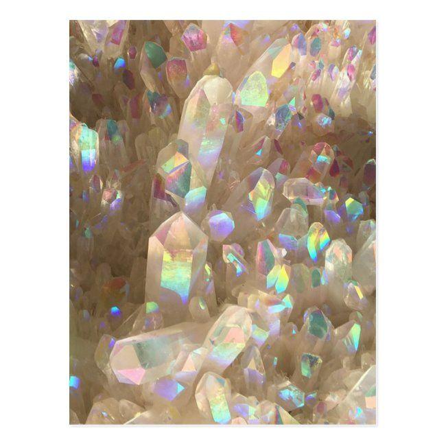 Unicorn Horn Aura Crystals Postcard   Zazzle.com