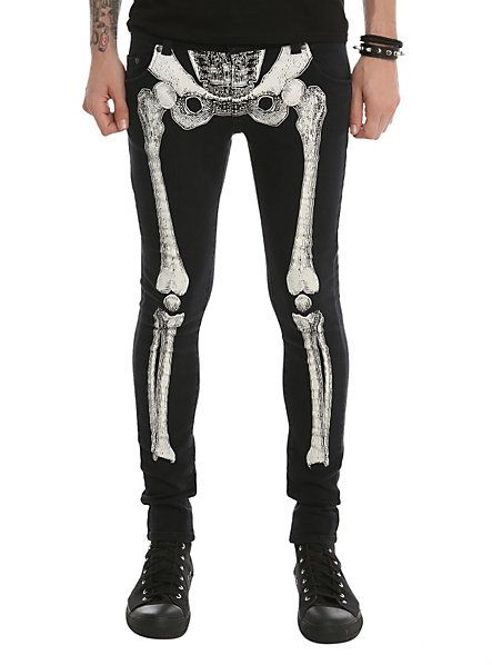 Kreepsville Skelebone Super Skinny Jeans | Hot Topic