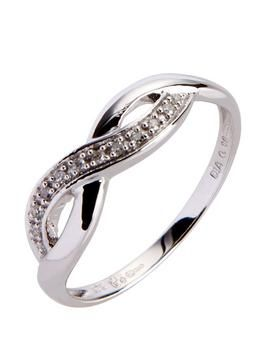 9Ct White Gold 6 Point Diamond Infinity Ring – Now £118.00 Was £139.00 #whitegold #6pointdiamond #infinityring #9ct